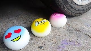 EXPERIMENT: CAR VS SQUISHY Emoji Face