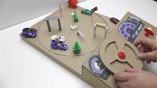 How to make a track car with magnets Desktop Game from Cardboard
