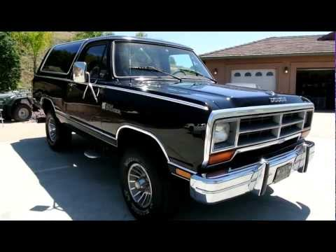 1987 Dodge Ram Charger 4x4 CLEAN Blazer Bronco Ramcharger SUV Youngtimer 1986 build