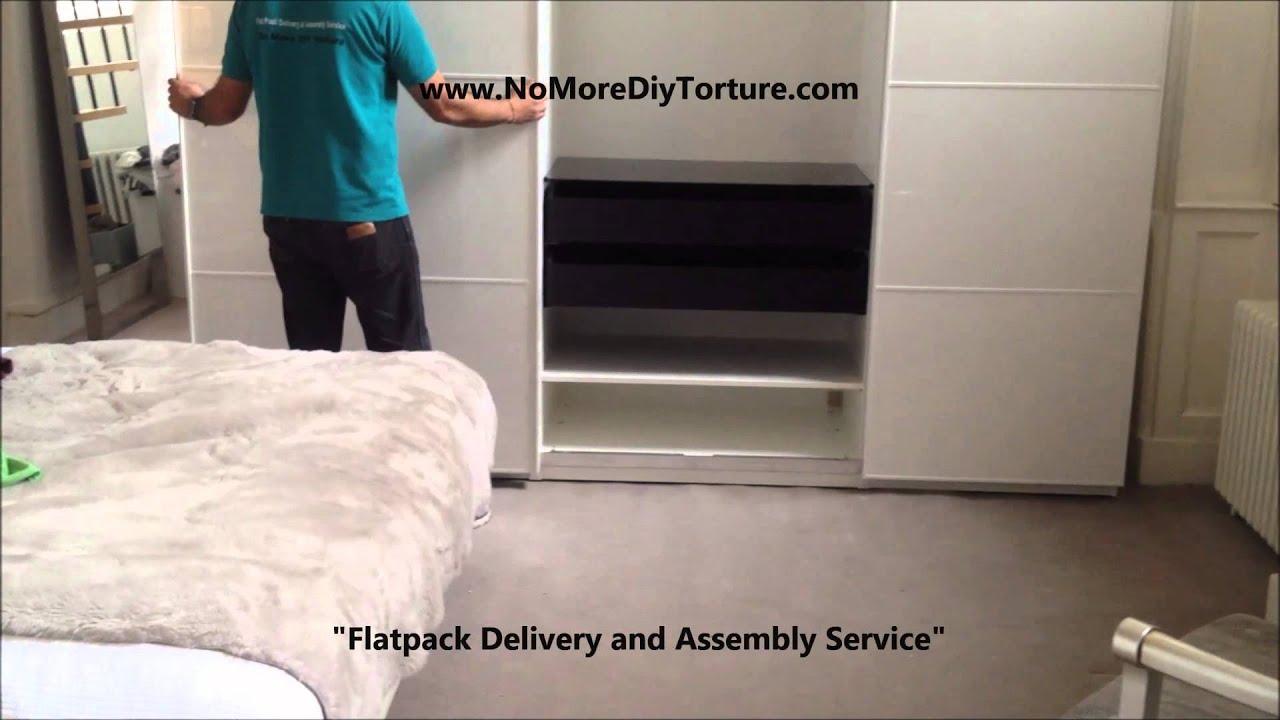 Ikea Pax Anstad 3 Sliding Doors Wardrobe Youtube