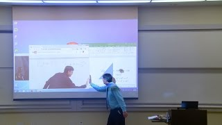 Math Professor Fixes Projector Screen (April Fools Prank)