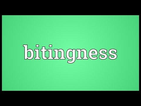 Header of bitingness