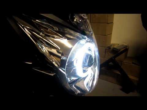Yamaha R6 Projector Headlights Bixenon Hid Angel Eyes Halo