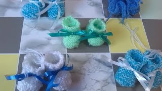 Souvenirs Baby Shower Mini  Escarpines Parte 1