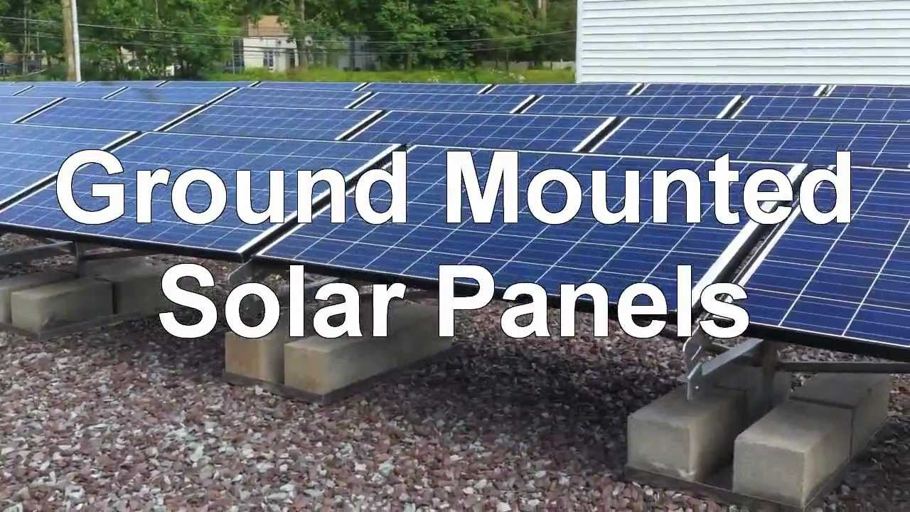 Installing Ground Mounted Solar Panels - YouTube