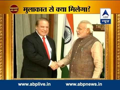 Narendra Modi meets Pakistan PM Nawaz Sharif