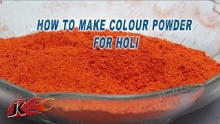 DIY How To Make Colour Powder For Holi - JK Arts 170