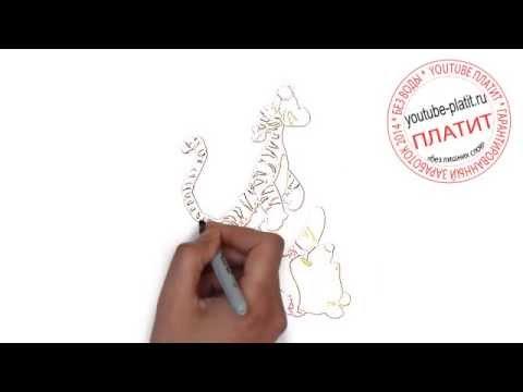 Видео как нарисовать героев Диснея поэтапно