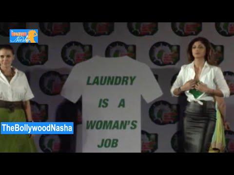 Shilpa Shetty, Neha Dhupia, Mandira Bedi   Ariel Initiative video