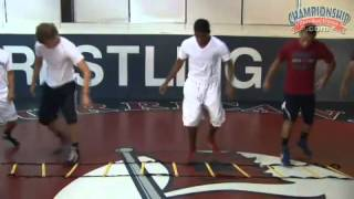 Agility Ladder Drill for Developing Wrestlers