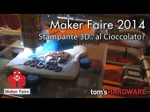 Maker Faire Roma 2014 – Stampante 3D.. di Cioccolato?