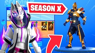 *NEW* SEASON X BATTLE PASS in Fortnite - OG skins RETURN! (Season 10)
