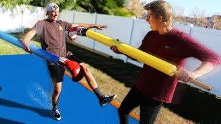 GIANT Slip N' Slide Jousting!!