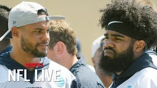 Dak Prescott's contract is the Cowboys' priority over Ezekiel Elliott - Dan Graziano | NFL Live