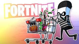 Shopping Cart SWINDLER! (Fortnite Battle Royale)