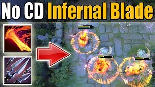 No Cooldown AoE Infernal Blade [IMBA 7.07 Ability Draft Build] Dota 2