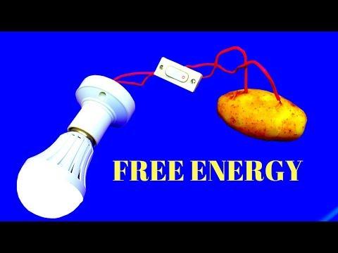 Free Energy Light for Lifetime using potato - 100% Free Energy Light Bulbs 220v Using Potato thumbnail