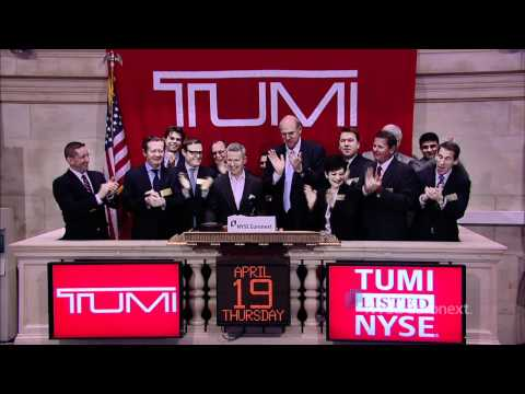Tumi Holdings lists IPO and rings the NYSE Opening Bell