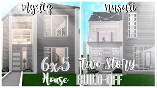 ROBLOX | Bloxburg : 6x5 Two-Story House BUILD-OFF