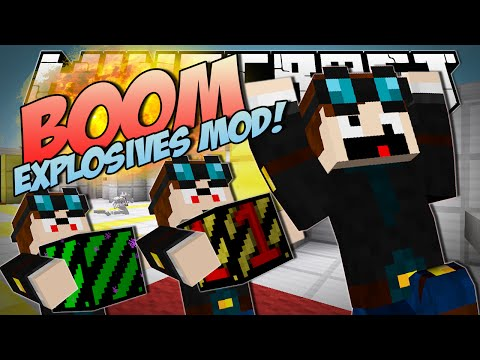 Minecraft | BOOM EXPLOSIVES MOD! (Blowing Up the North Pole!) | Mod Showcase