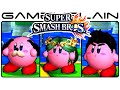 Smash Bros 3DS: All Kirby Hats & Transformations