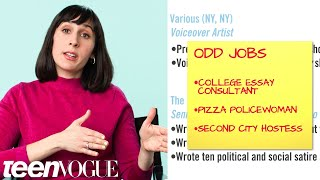 Comedy Writer Explains Her Career Path, from First Job to Current | Teen Vogue