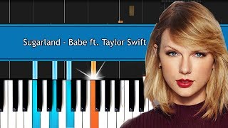 """Download Lagu 🎹 Sugarland - """"Babe"""" ft Taylor Swift Piano Tutorial - Chords - How To Play - Cover Gratis STAFABAND"""