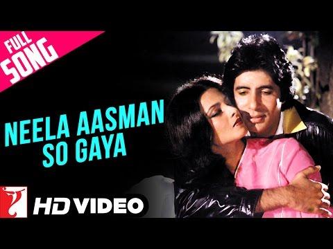 Neela Aasman So Gaya (Male) - Full Song HD | Silsila | Amitabh Bachchan | Jaya Bachchan | Rekha