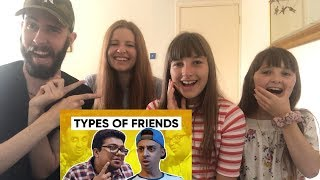 TYPES OF FRIENDS | Jordindian | Friendship Day | REACTION!!