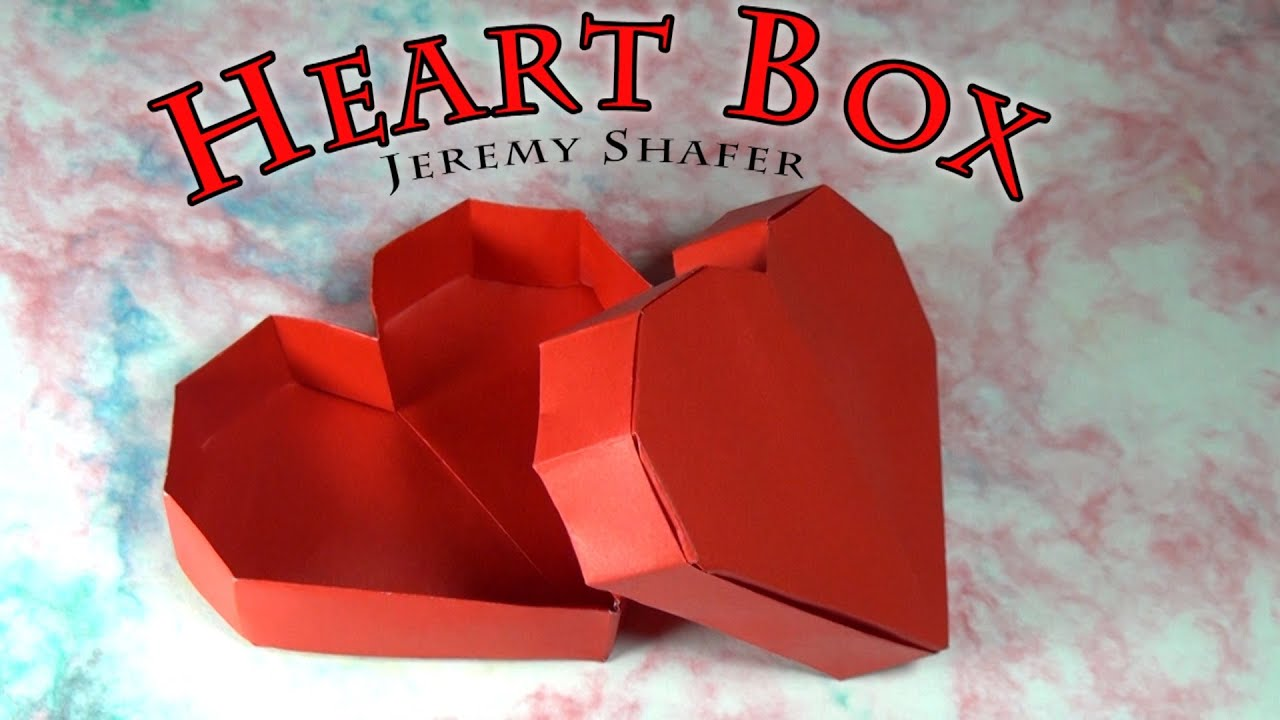 origami heart box youtube