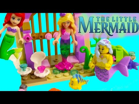 Disney The Little Mermaid Ariel's Amazing Treasures LEGO Playset Flounder Barbie Friends Toy Review
