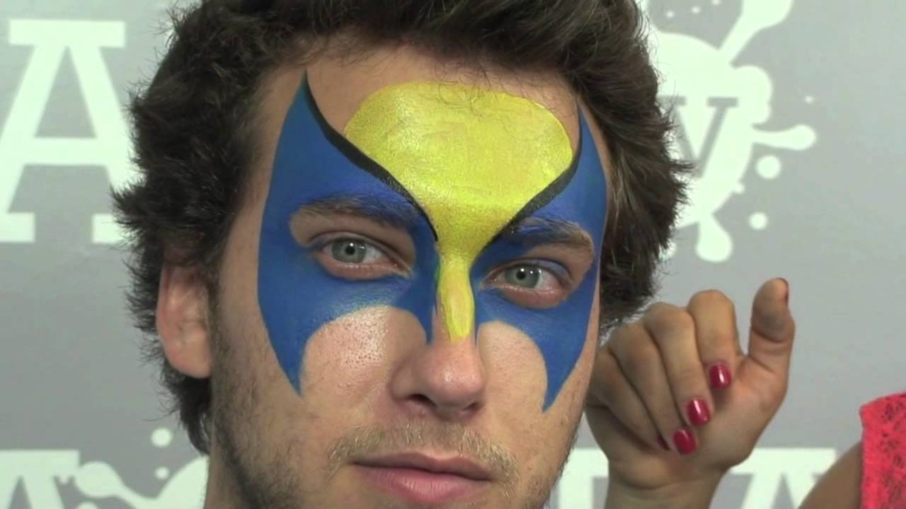 Easy Wolverine Face Paint