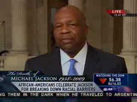 Rep. Cummings discusses Michael Jackson's Legacy and Clean Energy MSNBC 6/26/2009