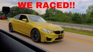I RACED A BMW M4 IN MY '18 FORD MUSTANG GT! *WOW*