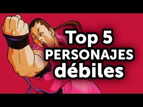 Top 5 - Personajes Débiles en juegos