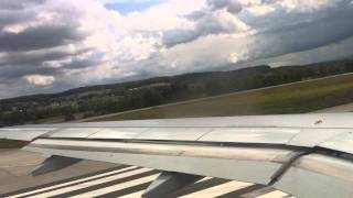 Very windy take off in Zurich - Swiss A320