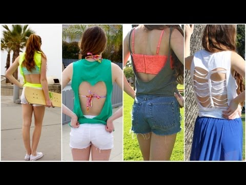Easy DIY cut-out shirts!
