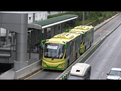 BRT Bus Rapid Transit Bangkok เปิดรั้วโรงเรียน