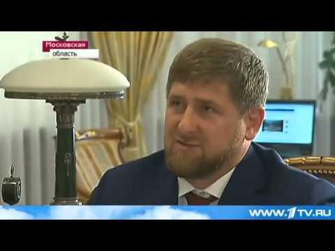 Кадыров рассказывает анекдот Путину