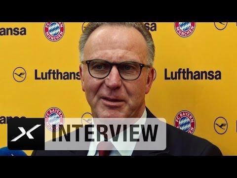 """Karl-Heinz Rummenigge: """"Erstes Mal in diesem Stadion""""   Atletico Madrid - FC Bayern"""