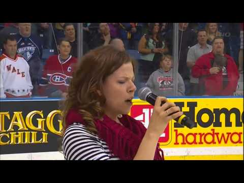 Memorial Cup Halifax vs Portland Anthem mess-up 05/18/2013