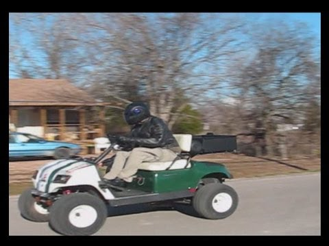 85 Mph In A Bad Ass Lifted 750cc Motorcycle Powered Golf Cart part 2.wmv Video
