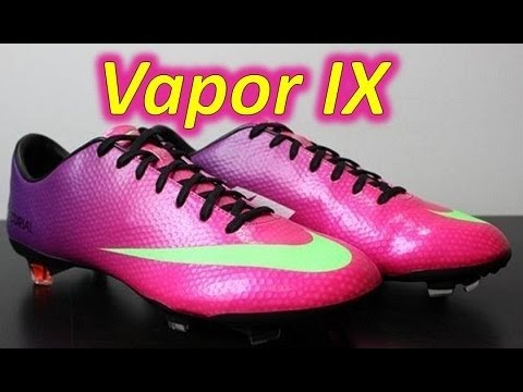 Nike Mercurial Vapor 9 IX Fireberry/Electric Green/Red Plum - Unboxing + On Feet