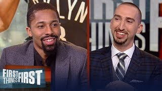 Spencer Dinwiddie shares his journey to the NBA, Nets' season success | NBA | FIRST THINGS FIRST