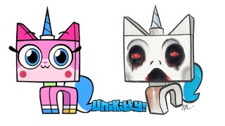 UNIKITTY ! Characters as GRANNY and SLENDRINA horror games