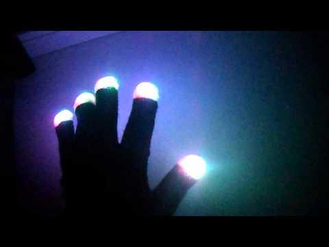 Как сделать чтобы перчатки светились