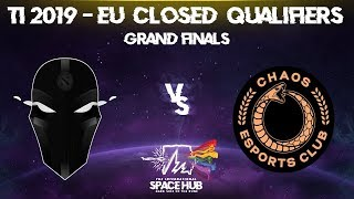 The Final Tribe vs Chaos EC Game 1 - TI9 EU Regional Qualifiers: Grand Finals