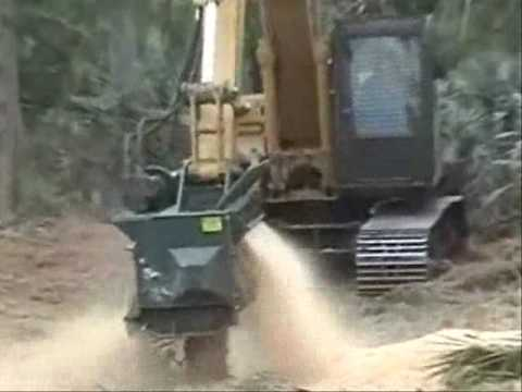 Brown Brontosaurus Mower Working in Florida Video