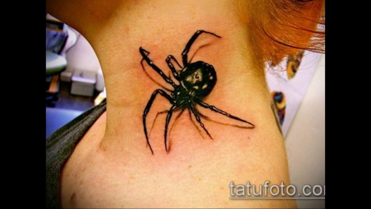 Black tarantula tattoo