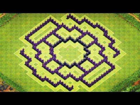 Clash of Clans - TH8 Trophy/Clan War Base (Zync) - Speedbuild 2014